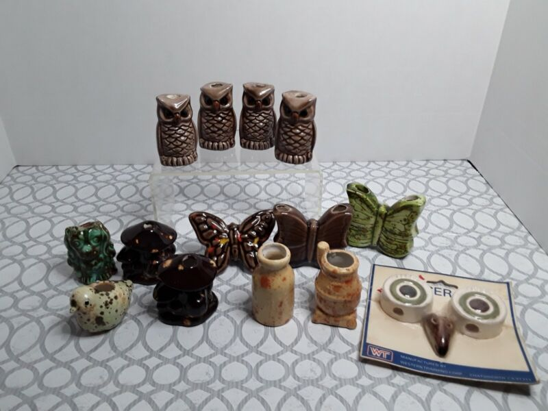 Vintage Lot Of 14 Ceramic Macrame Beads Pre-owned Never Used