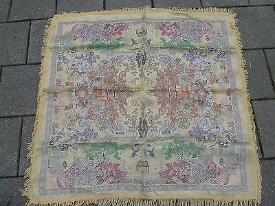 Noble Cloth __Tablecloth__ Silk __ Fine and Costly Embroidery __ China __ 90 x