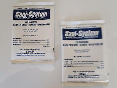 فلتر مياه جديد 2 PACK PRO PRODUCTS WS Sani-System Water Softener Liquid Sanitizer SANISYSTEM