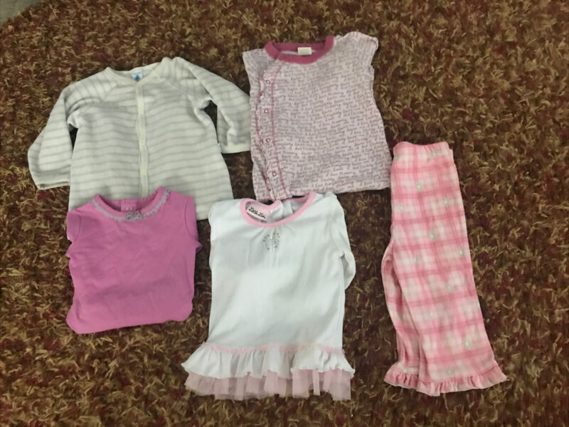 Lot Of 5 Mixed Infant Girls Clothes Size 12-18 Months