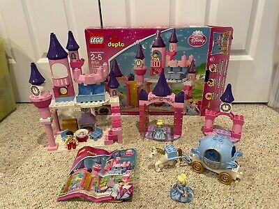 LEGO DUPLO 6154 Disney Cinderella's Castle & 6153 Cinderella's Carriage LOT