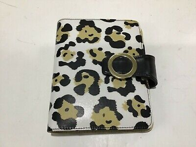Compact 1 Ring White Black Tan Leopard Franklin Covey 365 Binder Some Pages