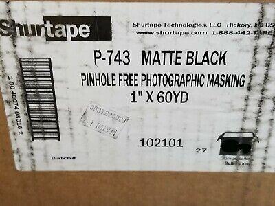 Shurtape Cp-743 Matte Black Pinhole Free Photographic Masking Tape 1 X 60yds P