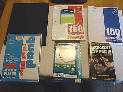 Mixed Lot Of School Office Note Book Paperfolderetc. Awesome Lot