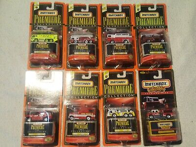 Matchbox Premiere Fire Collection lot Foretruck Ambulance
