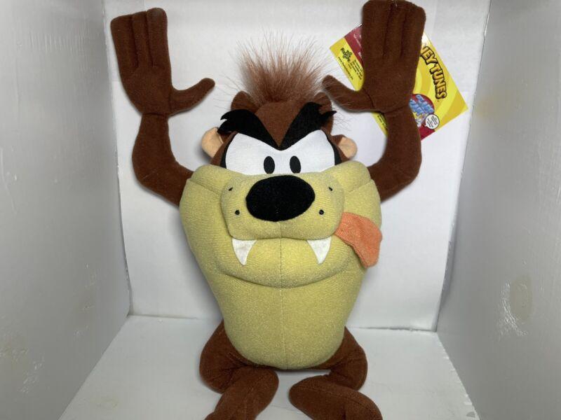 "Looney Toons Taz Tasmanian Devil 14"" Plush Stuffed Toy Warner Brothers NWT"