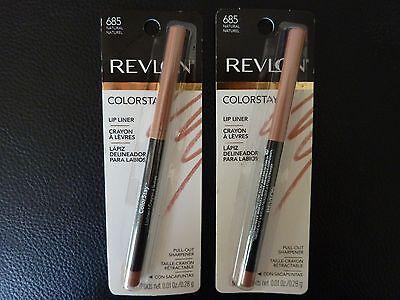 Natural Lip Liner - Revlon ColorStay Lip Liner / Lipliner - NATURAL  #685 - TWO - Both New / Sealed
