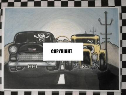 Car drawings and stickers Holden Valiant Ford JDM