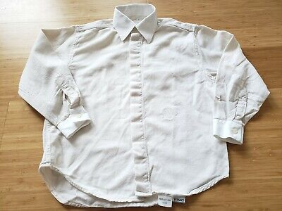 Versace Boys Sz 7 Long Sleeve Button down Dress Shirt Excellent Condition Italia