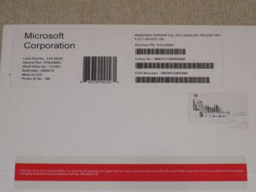 Windows Server 2012 5-Device CAL (OEM) Windows R18-03683