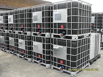 Wassertank,schwarz,IBC, Regentonne, gebraucht, Gitterboxen, kostenloser Versand