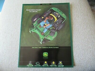 John Deere 647 657 F680 717 737 757 7-iron Mowers Tractor Brochure 24 Pages
