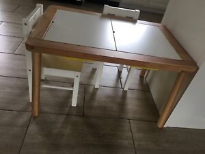 Table , chairs, boxes