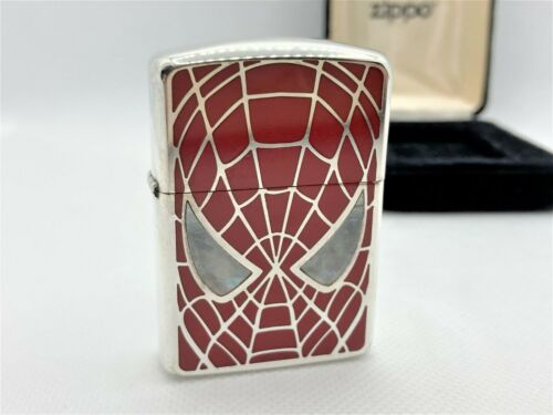 ZIPPO 2007 ARMOR Limited Edition SPIDER-MAN Double-Sided Shell Eyes Lighter