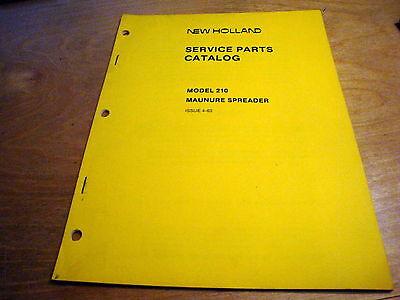 New Holland 210 Manure Spreader Parts Catalog List Book Manual Nh Oem