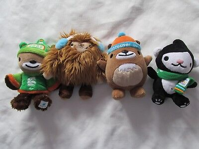 VANCOUVER 2010 Winter OLYMPIC SET 4 Mascot Plush DOLLS¤QUATCHI¤MUKMUK¤MIGA¤SUMI, used for sale  Canada