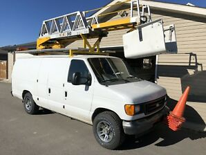 Ford E350 Bucket Boom Truck / Van RH38D Ladder Lift 6.0 Diesel