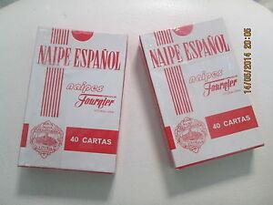 2-JUEGOS-DE-CARTAS-NAIPE-ESPANOL-HERACLIO-FOURNIER-Nuevas