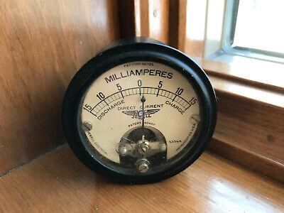 Vintage Jewell 0-15 Dc Direct Current Milliamperes Gauge Meter No. 135
