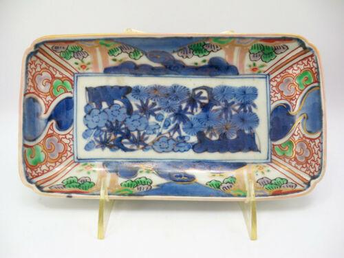 19th Century Japanese Imari Rectangle Plate Fuki Chosun
