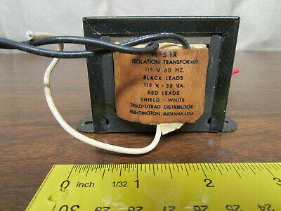 Triad-utrad Isolation Transformer Model N-51x Vintage Audio Component