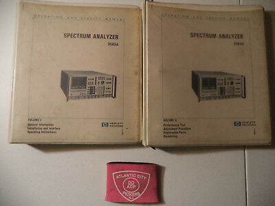 Hewlett Packard 3585a Set Vol.1-2 Operating And Service Manual