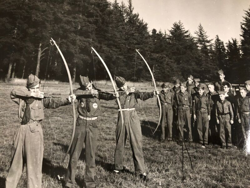 Vintage 1953 Camp Minneyata Boy Scouts Hiawathaland Committee Photograph Lot