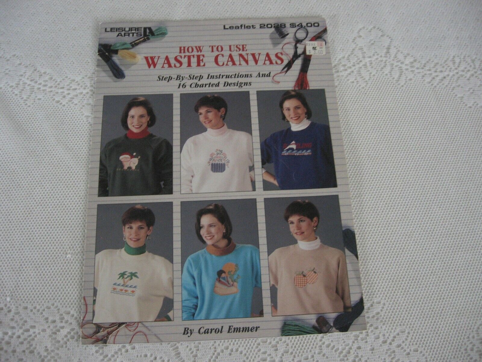 How To Use Waste Canvas By Leisure Arts 1991 - Leaflet 2028  - $2.75