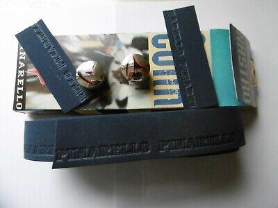 Pinarello Nastro Gork Handlebar Tape Dark Blue And Dust Caps New