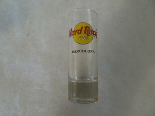 Hard Rock Cafe Shot Glass Barcelona Classic Logo black Lettering double circle