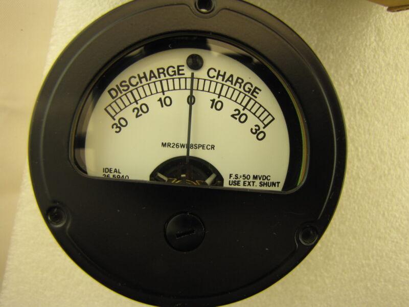 """30-0-30 A Scale 50-0-50 mv DC 2 1/2"""" Panel Meter Zero Center NOS NIB"""