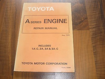 TOYOTA ENGINE A-Series in Tercel 1979- General REPAIR MANUAL WERKSTATT HANDBUCH