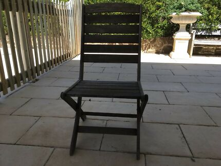 Outdoor  jarrah  wooden folding chairs