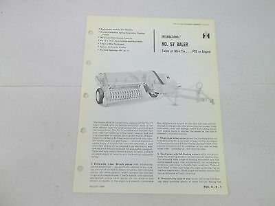 International Harvester No. 57 Baler Sales Brochure