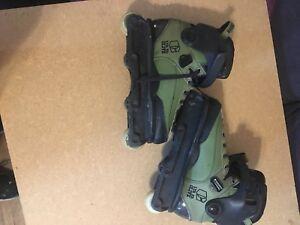 Custom USD Carbon 2 Green Skates