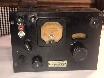Rare 1930s 3a Tube Tester Coleman Electric Co. Inc Haywood Ill Museum Piece