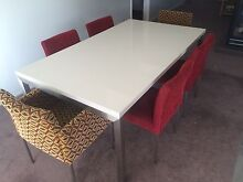 Contemporary Caesar Stone and Stainless Steel Dining Table chairs Beaumaris Bayside Area Preview
