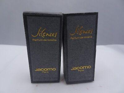 Parfum De Toilette Miniature (SILENCES By Jacomo Parfum de Toilette 2 ml Each Of 2 Miniature New Boxed )