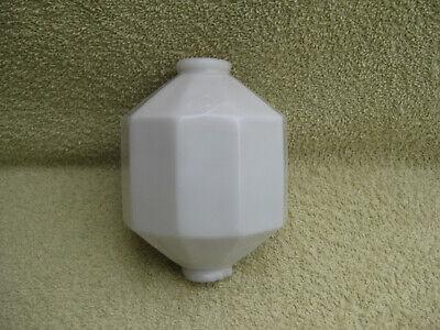White Milk Glass D & S Lightning Rod Ball