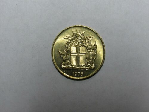 Old Iceland Coin - 1975 1 Krona - Brilliant Uncirculated