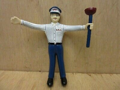 Vintage 1970s Style Roto Rooter Promotional Bendy Figure - Mr. Rooter Plumbing