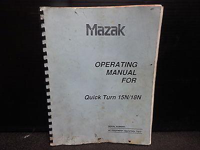 Mazak Operating Manual Quick Turn 15n18n 000x713 341s027
