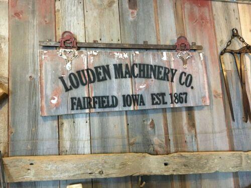 barn wood sign /  antique barn door roller louden sign/ rustic man cave sign