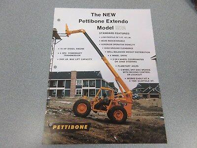 Rare Pettibone 5528 Extendo Forklift Sales Sheet