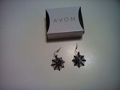 AVON HALLOWEEN SPARKLING SPIDER Pierced Earrings New Free Shipping - Halloween Earrings Avon