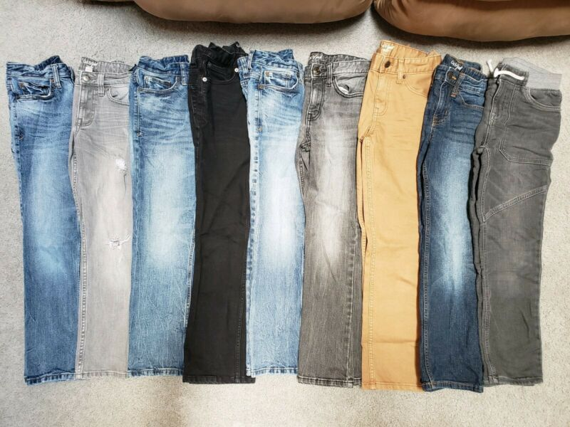 LOT OF 13 PAIRS OF BOYS JEANS SIZE 8~VERY GOOD CONDITION