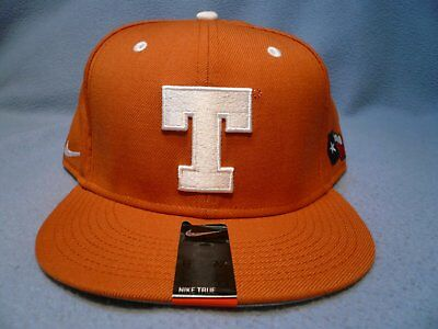 Nike Texas Longhorns True Wool Fitted BRAND NEW hat cap UT Football State -
