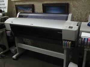 Epson Stylus Pro 9880 or 9800  Large Format Inkjet Printer dye sublimation