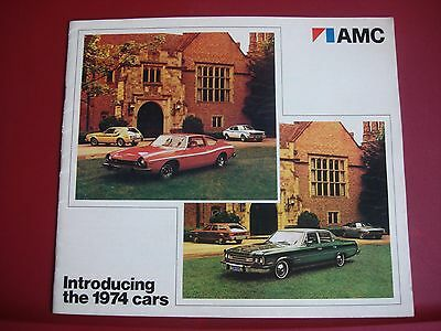 1974 AMC Brochure/Catalog Introducing the 1974 Cars Original