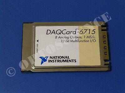 National Instruments Ni Daqcard-6715 Pcmcia Daq Card Analog Output